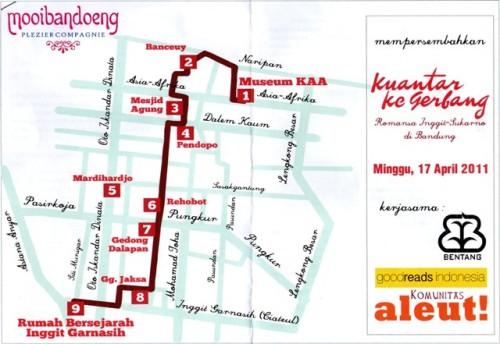 Peta perjalanan napak tilas Romansa Inggit-Sukarno di Bandung