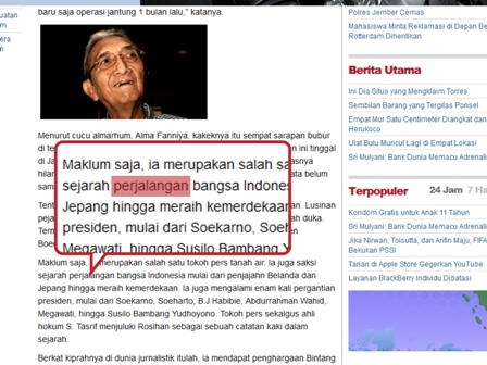 Screenshot artikel di web Tempo Interaktif